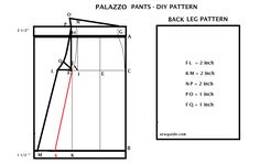 Learn how to sew a STYLISH PALAZZO PANTS with this detailed tutorial. 2 ways of drafting the pattern are given out of which first is the easiest Plazzo Pants Pattern, Pants Pattern Free, Free Pattern, Barbie Knitting Patterns, Sewing Patterns Free, Pallazo Pants, Sewing Hacks, Sewing Ideas, Sewing Projects