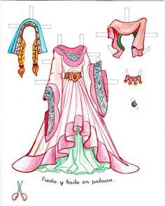 Princess Paper Doll - Sleeping Beauty | Gabi's Paper Dolls