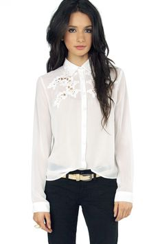Linda Embroidery Sheer Top $37 at www.tobi.com