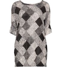 Velvet Pop Black / Cream Plus Size Checked loose knit jumper ($31) ❤ liked on Polyvore featuring tops, sweaters, black, plus size, plus size sweaters, loose knit sweater, loose long sleeve shirts, checked shirt and plus size womens shirts