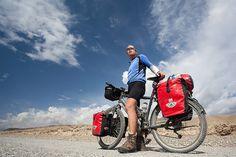 Elmar in Kyrgyzstan On our 2 month cycling trip across Kyrgyzstan & Tajikistan. Ellen van der Zwan