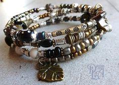 166 Bracelet mémoire de style gypsy. par DesignLA sur Etsy