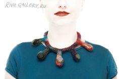 wool necklace, (c) Natalia Rivo from Rivo. My Works, Handmade Jewelry, Wool, Beads, Gallery, Fashion, Beading, Moda, Handmade Jewellery