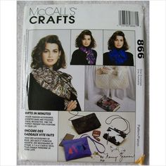 McCalls Crafts Pattern #866 Bags Pouches Shoe Tote Scarf Book Cover More Uncut on eBid United States