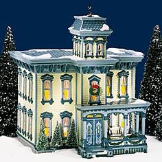 """Department 56: Products - """"Italianate Villa"""" - View Lighted Buildings"""