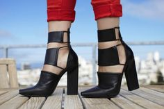We're loving these architectural heels.