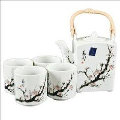 I found 'Japanese Cherry Blossom Tree Tea Set (1 pot & 4 cups)' on Wish, check it out!