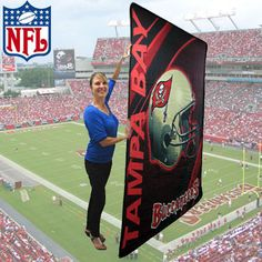 NFL® DOUBLE SIDED PLUSH BUCCANEER BLANKET Retails @ $89.95