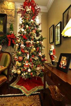 angela neals den christmas tree is loaded with 28 mark roberts fairies - Mark Roberts Christmas