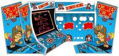 Thème graphique Donkey Kong pour le kit borne d'arcade bartop 2 joueurs arcademy. plus d'infos : http://www.arcademy.fr