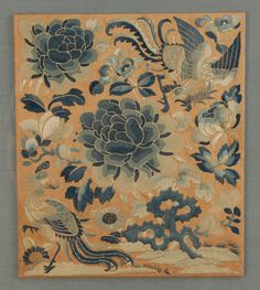 FRAMED CHINESE EMBROIDERIES, 19th C.