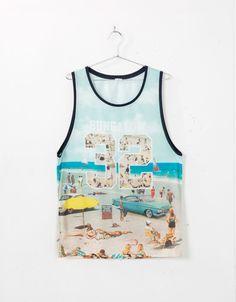 Shirt Outfit, T Shirt, Surfs, Striped Tank, Cute Illustration, Havana, Tank Man, Tank Tops, Clothing
