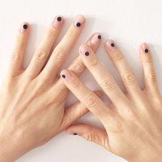 Minimal spot nails by Madeline Pool
