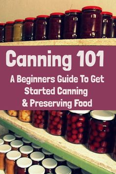 Canning 101 - A Beginners Guide To Get Started Canning & Preserving Food Easy Canning, Canning Tips, Canning Food Preservation, Preserving Food, Conservation, High Acid Foods, Canning Pressure Cooker, Canning Equipment, Low Acid Recipes