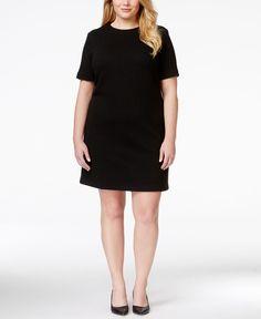 Calvin Klein Plus Size Textured Shift Dress