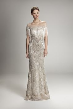 Gatsby gown - absolutely gorgeous and elegant. I would wear this as a wedding dress. Vestidos Vintage, Vintage Dresses, Beautiful Gowns, Beautiful Outfits, Gorgeous Dress, Mode Vintage, Mode Inspiration, Fashion Inspiration, Mode Style