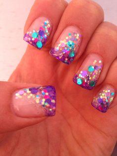 Glitter hard gel