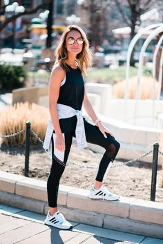 Athleisure outfits, sporty chic, athletic outfits, athletic wear, sport out Mode Outfits, Chic Outfits, Sport Outfits, Girl Outfits, Fashion Outfits, Fashion Trends, Fashion Clothes, Athleisure Trend, Athleisure Outfits