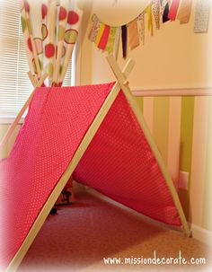 A Frame Tent Tutorial | made this enitre tent in about an hour (minus drying time), for $10 ...
