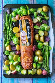 This Easy Sheet Pan Pork Tenderloin Dinner is the perfect healthy and delicious family friendly meal with easy prep and super fast clean up. Using super flavorful marinated Smithfield Golden Rotisserie pork tenderloin, this easy sheet pan dinner does all Pork Recipes, Cooking Recipes, Healthy Pork Tenderloin Recipes, Cooking Games, Pork Tenderloin In Oven, Pan Cooking, Cooking Rice, Flour Recipes, Today Is Monday