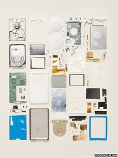 Disassembled ipod. Todd McLellan. 2013. Things Come Apart.