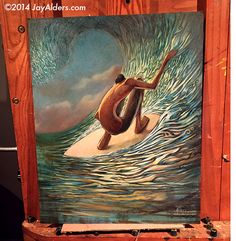 Moment of Momentum - Surf Art by Artist Jay Alders  jayalders.com ©2014 Alders Prints available