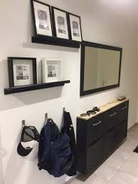 Materials: Furnishings trones shoe storage modified in entrance buffet for slender hall Ikea E picture body Foyer Decorating, Interior Decorating, Hall Furniture, Small Entryways, Hallway Storage, Entry Hallway, Buffet, Small Living Rooms, Best Interior Design