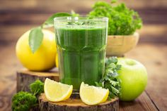 1-2 cups kale, 1 apple, 1/2 lemon, 1-2 cups water/coconut water *substitute with spinach, use green apple, add ginger and cinnamon