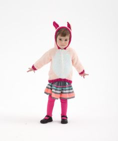 Knit this adorable bunny hoodie for some Easter funtime!