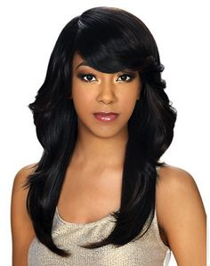 Zury Sis Wig HT KEIKO Color Shown on Pageboy with Flipped Back Side Soft Silky textureHigh heat-Iron safe up to Natural Hair Bangs, Natural Hair Styles, Short Hair Styles, Remy Hair Wigs, Human Hair Wigs, Braided Ponytail Hairstyles, Hairstyles With Bangs, Hair Band For Girl, Headband Wigs