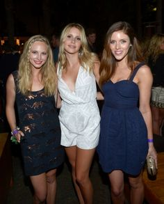 Candice Accola, Claire Holt and Kayla Ewell attend NYLON magazine and Tommy Girl's annual Young Hollywood Issue party at the Hollywood Roosevelt Hotel in Hollywood on May 9.