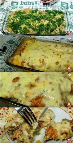 Trendy Pasta Recipes No Meat No Time 50 Ideas No Salt Recipes, Pasta Recipes, Beef Recipes, Chicken Recipes, Healthy Recipes, Brazilian Dishes, Confort Food, Salmon Pasta, Food Design