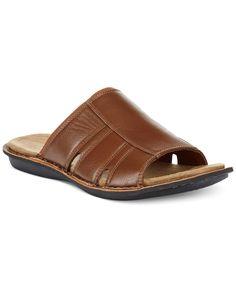 Alfani Myers Slip-On Sandals Men Sandals, Brown Sandals, Boy Shoes, Men's Shoes, Kids Slippers, Sandals Online, Flip Flop Sandals, Womens Fashion, Leather
