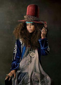 Erykah Badu in The New Yorker  Photo by Amanda Demme  http://www.afropunk.com/photo/erykah-badu-in-the-new-yorker