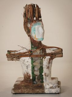 another gorgeous paper pulp and found object sculpture by Kathleen Girdler Engler