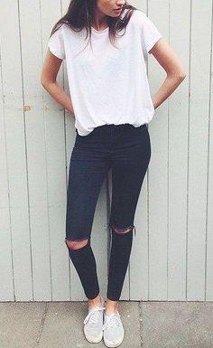white + black #topshop || @kyliieee