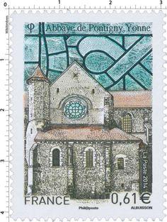 Timbre : 2014 Abbaye de Pontigny, Yonne | WikiTimbres