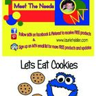 This is a cookie math learning center.   Includes:  *15 Math cards (Numbers1-15) *1 Blank make your own number card * 48 Cookies  Object of activit...