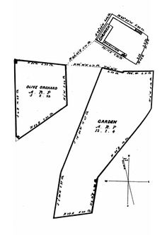A plot plan shows the principal portion of the lands at Mission San Diego de Alcalá restored to the Catholic Church in Taken from p. 346 of San Diego Mission by Engelhardt, Zephyrin Junipero, San Diego Mission, Plot Plan, California Missions, Catholic, Restoration, How To Plan, Roman Catholic