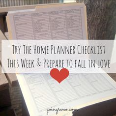 Try The Home Planner Checklist This Week (Be Prepared to Fall in Love) - Going Reno