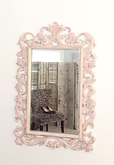 nursery mirror pink shabby chic ornate baroque large wall hanging mirror - Large Bathroom Mirror