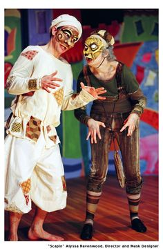 Scapin. Commedia Dell'Arte Theatre Performance. Masks and Direction by Alyssa Ravenwood