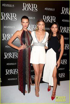 Gigi Hadid Buddys Up with Jessica Gomes at David Jones Fashion Show!