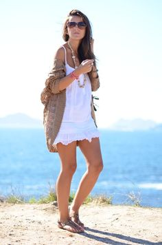 I love this cardigan with this dress