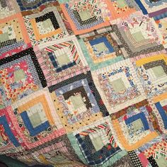 Vintage Log Cabin quilt I own.