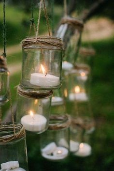 Cheap Wedding Decorations Which Look Chic ★ cheap wedding decorations suspended candles in glass jars pedro bellido