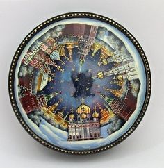 Mstera Russian Lacquer Box 3655 Moscow Sights | eBay