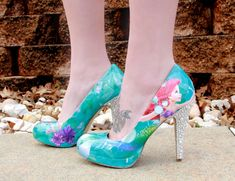 I ABSOLUTELY want these shoes! Ariel Heels by SweetDreamShoes on Etsy, $100.00