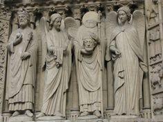 Notre Dame in Paris, France Monuments, Notre Dame France, French Gothic Architecture, Amazing Architecture, Paris Wallpaper, Get Up And Walk, Roman Soldiers, Paris Saint, Sculpture