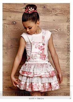 Blusa Infantil com Salopete Diforini Moda Infanto Juvenil 121177 8cc64ba3e6a